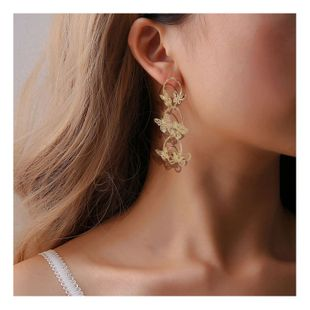fashion simple metal butterfly long earrings exaggerated earrings wholesale nihaojewelry NHCT228236's discount tags