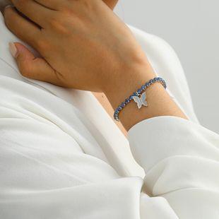 fashion jewelry simple geometric three-dimensional diamond jewelry geometric small butterfly tassel pendant bracelet wholesale nihaojewelry NHXR228295's discount tags