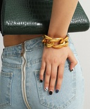 fashion jewelry hiphop geometric hollowed out punk exaggerated thick chain singlelayer retro bracelet wholesale nihaojewelry NHXR228303