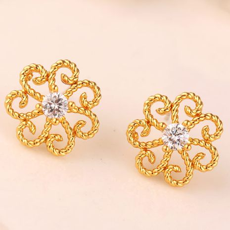 Korean fashion simple and sweet OL flower earrings NHSC228761's discount tags