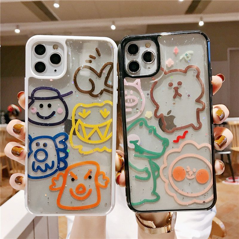 bear phone case apple 11Pro max mobile phone shell suitable for iphone8 glue soft XR Huawei P40 NHFI228320