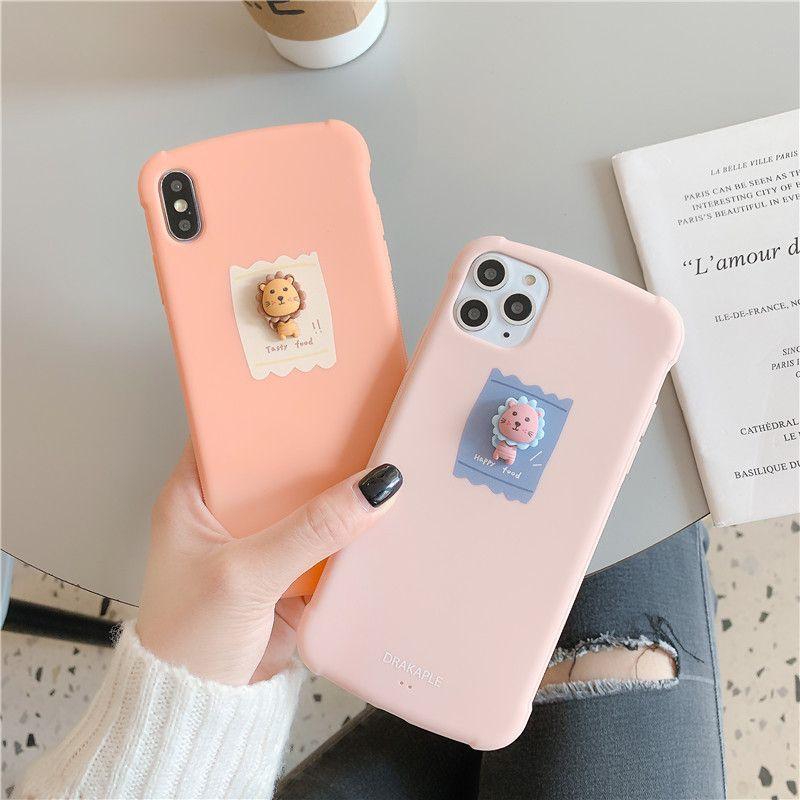 Three-dimensional cartoon lion mobile phonecase for iPhone 11 Pro/MAX/8plus/XS HUAWEI mate30pro wholesale nihaojewelry NHFI228333