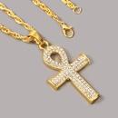 rhinestone cross hip hop necklace neutral trend hiphop pendant jewelry wholesale nihaojewelry NHLA228401