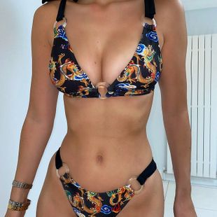 new swimsuit ladies split swimsuit explosions printed swimsuit bikini wholesale nihaojewelry NHDA228405's discount tags