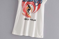 womens new beach surfing front and back round neck short sleeve printed Tshirt wholesale nihaojewelry NHAM228416