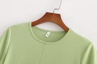 slimming exposed navel shirt tide split shortsleeved tshirt wholesale nihaojewelry NHAM228431