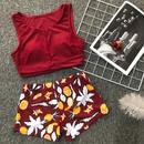 nouveau split trois pices bikini maillot de bain vacances imprim maillot de bain en gros nihaojewelry NHZO228474