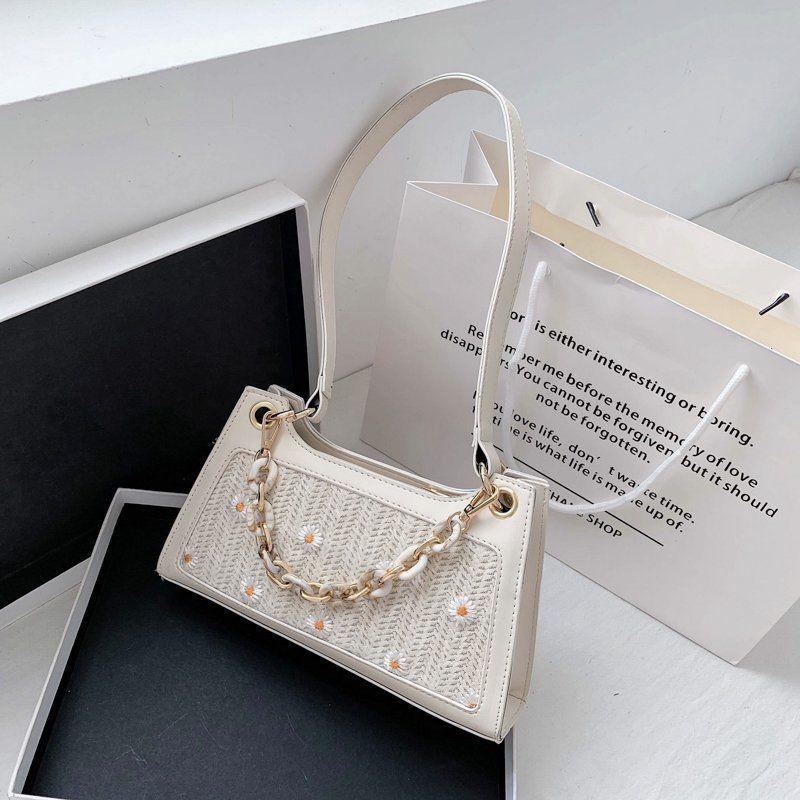 Summer bag new wave texture shoulder bag handbag fashion armpit bag wholesale nihaojewelry NHJZ228491