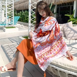 beach towel summer beach sunscreen shawl outside scarf thin section extra large wild scarf  NHCM228628's discount tags