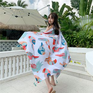 beach towel summer beach sunscreen shawl outside scarf extra large wild scarf  NHCM228631's discount tags