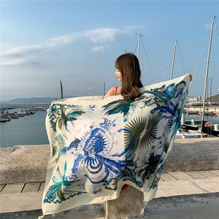 beach towel summer beach sunscreen shawl outside scarf extra large wild scarf NHCM228632's discount tags