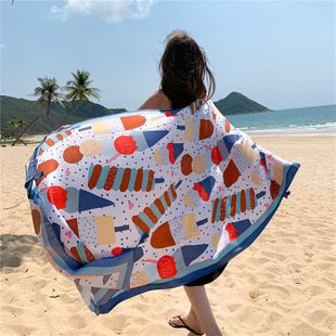 Summer cotton and linen ethnic wind travel scarf sunscreen scarf large shawl female seaside beach towel  NHCM228635's discount tags
