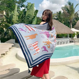 beach towel super large wild scarf scarves women summer beach sunscreen shawls thin scarf NHCM228643's discount tags