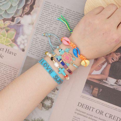 Simple bracelet natural pearl shell beach wind Miyuki rice beads woven turtle handmade jewelry wholesale nihaojewelry NHGW228676's discount tags