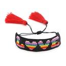 simple couple bracelet Miyuki rice beads weave love friendship rope tassel handmade jewelry wholesale nihaojewelry NHGW228681