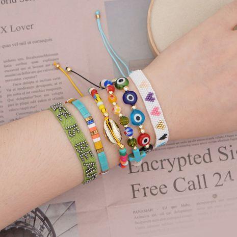 simple woven bracelet Miyuki rice beads love national style glass beads shell handmade jewelry wholesale NHGW228684's discount tags