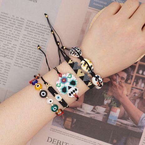 fashion bracelet natural shell Miyuki rice beads woven eyes ethnic style handmade jewelry wholesale nihaojewelry NHGW228702's discount tags
