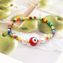 Baroque natural freshwater pearl ethnic style handmade jewelry simple color rice beads bracelet female NHGW228708