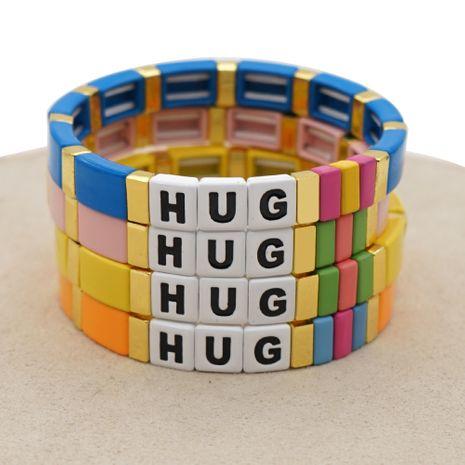 couple bracelet female hipster fashion rainbow enamel zinc alloy woven handmade jewelry NHGW228710's discount tags