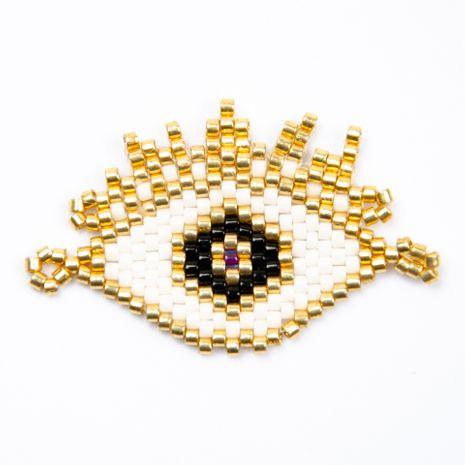 Miyuki glass rice beads devil's eyes classic ethnic style woven handmade jewelry wholesale nihaojewelry NHGW228712's discount tags
