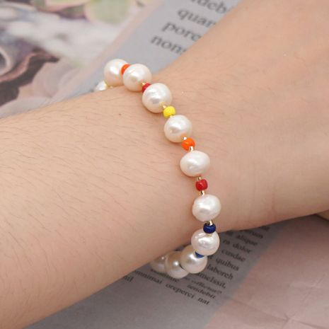 Simple Color Rice Pearl Bracelet Baroque Natural Freshwater Pearl Ethnic Wind Handmade Jewelry NHGW228714's discount tags