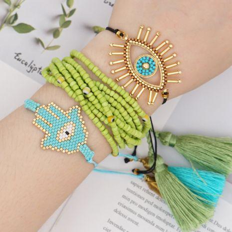 style fashion bracelet Miyuki glass rice beads woven multi-layer tassel handmade jewelry wholesale nihaojewelry NHGW228722's discount tags