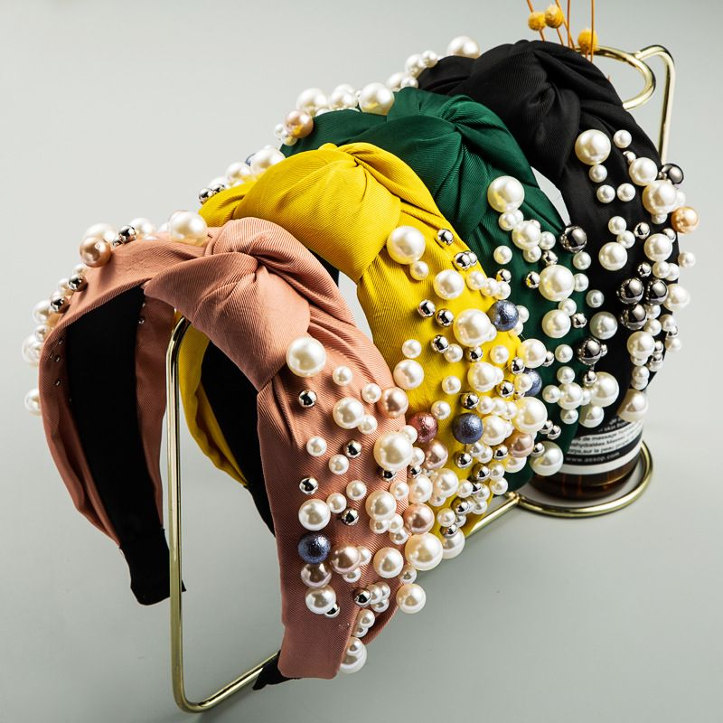 headband wide-brimmed simple Korean nail knotted Mori ladies headbandsweet hair accessories NHLN228725