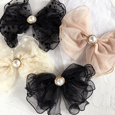 Korean new pearl wild little bowknot large multi-layer hair accessories wholesale nihaojewelry NHHI228738's discount tags