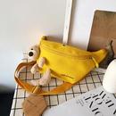 Ours sac en toile nouvelle vague mignon tudiant poitrine sac paule messager taille sac en gros nihaojewelry NHXC228847