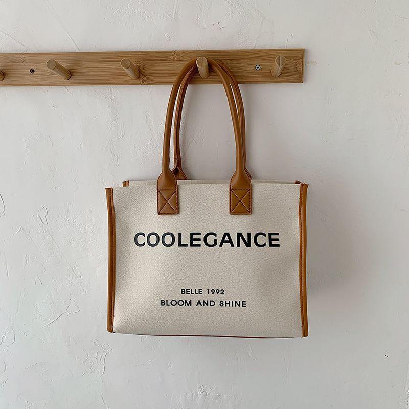 canvas big bag summer new one-shoulder handbag printing large-capacity briefcase wholesale nihaojewelry NHGA228906