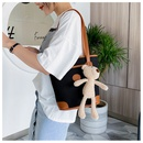 small bag women bag summer new wave style bucket bag fashion canvas shoulder bag wholesale nihaojewelry NHTC229012