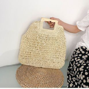 Summer small bag new trendy straw woven bag fashion popularmessenger bag bucket bag wholesale nihaojewelry NHTC229023's discount tags