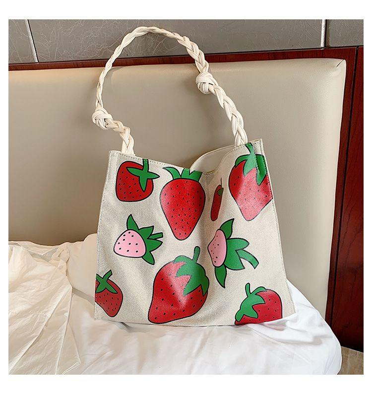 Large-capacity bag new wave summer fashion canvas bag shoulder bag tote bag wholesale nihaojewelry NHTC229049