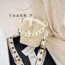 ladies small bag new summer fashion broadband shoulder messenger bag chain bucket bag wholesale nihaojewelry NHTC229050