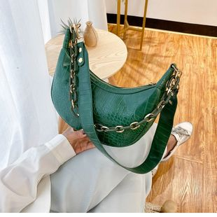 nouveau mode crocodile motif baguette sac dames épaule bandoulière aisselle sac en gros nihaojewelry NHTC229060's discount tags