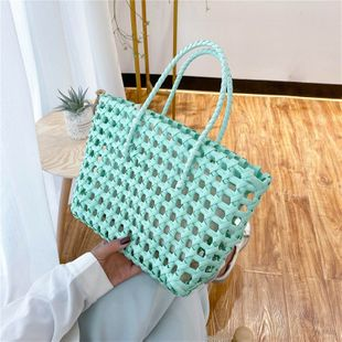 popular bags large-capacity women's bags new trendy fashion woven handbags vegetable basket bags wholesale nihaojewelry NHTC229065's discount tags