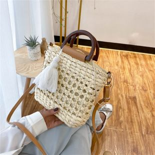 Summer small bag new wave woven bag popular shoulder messenger bag fashion portable straw bag wholesale nihaojewelry NHTC229068's discount tags