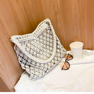 nuevo bolso grande bolso tejido coreano bolso hueco bolso de hombro bolso de mano al por mayor nihaojewelry NHTC229097's discount tags