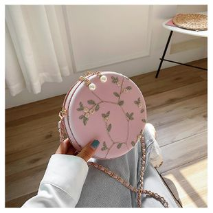 Summer small bag new texture style fashion slung chain small round bag wholesale nihaojewelry NHTC229107's discount tags