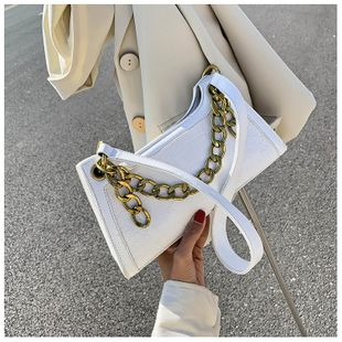 Popular small bag new wave texture crocodile pattern armpit bag chain handbag shoulder bag wholesale nihaojewelry NHTC229116's discount tags