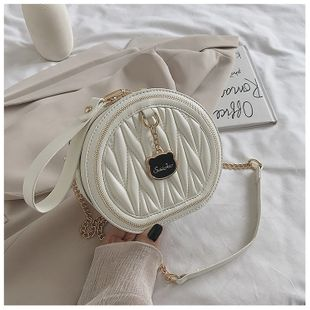 small fragrance bag new wave Korean one-shoulder crossbody bright fashion small round bag wholesale nihaojewelry NHTC229120's discount tags