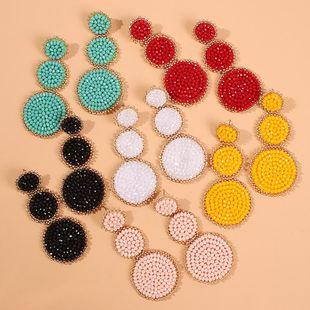 New earrings fashion earrings ethnic style creative handmade rice beads geometric earrings NHMD175888's discount tags