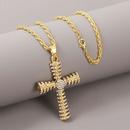 Creative hip hop cross necklace exaggerated pendant jewelry wholesale nihaojewelry NHLA229146