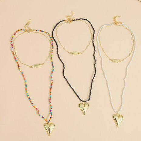 Bohème long amour perle multi-couche collier créatif à la main perlé couleur pendentif bijoux en gros nihaojewelry NHLA229151's discount tags