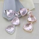 copper plating vertical sense pink transparent earrings simple fashion earrings jewelry wholesale nihaojewelry NHBP229164