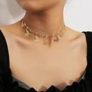 bijoux temprament couture courte en forme de coeur collier simple gland papillon diamant collier mixte en gros nihaojewelry NHXR229184