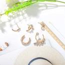 fashion water drop white diamond flower pearl earring creative mushroom diamond earrings set wholesale nihaojewelry NHJQ229195
