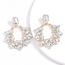 Fashion color diamond exaggerated alloy diamond acrylic earrings retro diamond earrings wholesale nihaojewelry NHJE229206