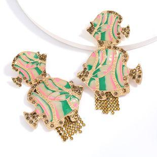 alloy dripping acrylic drop diamond tropical fish earrings tide earrings wholesale nihaojewelry NHJE229218's discount tags