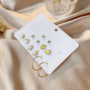 New jewelry one week earring set combination 6 pairs of mini simple Cshaped imitation pearl earrings wholesale nihaojewelry NHSD229231